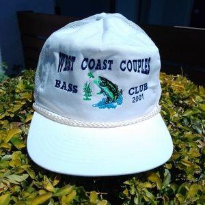 Vintage Bass fishing trucker hat snapback